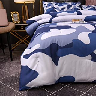 Holawakaka King Size Camouflage Comforter Set, Boys Girls Men Camo Quilted Bedding Sets Neutral Farmhouse Lodge Cabin Army...