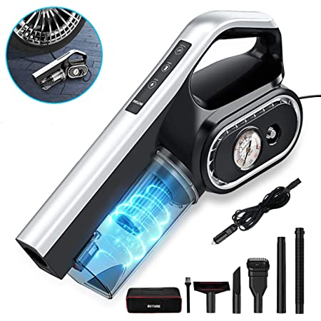 for Wet//Dry Use Car Vacuum DC12V High Power 5500PA Handheld Car Vacuum w//LED Light Tire Inflator 14.8FT Power Cord Uleete 2 in 1 Portable Car Vacuum Cleaner with Air Compressor Pump