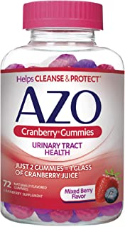 AZO Cranberry Urinary Tract Health Gummies Dietary Supplement | 2 Gummies = 1 Glass of Cranberry Juice | Helps Cleanse & P...
