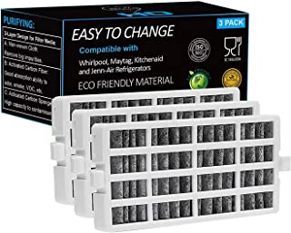 OH Fresh Flow Refrigerator Air Filter Replacement for Whirlpool W10311524, W10335147, 2319308 Filter for Air1, W10315189 For kitchenaid Refrigerator Air Filters, 3-PACK (White) (3)