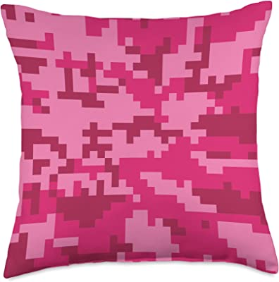 Camouflage Playground Pink Camouflage Throw Pillow, 18x18, Multicolor