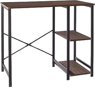 AmazonBasics Classic, Home Office Computer Desk With Shelves, Espresso