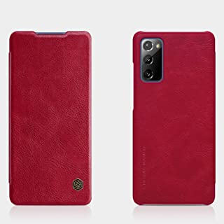 Nillkin Qin Leather Case Hard Back Cover For Samsung Galaxy S20 FE 2020 - Red