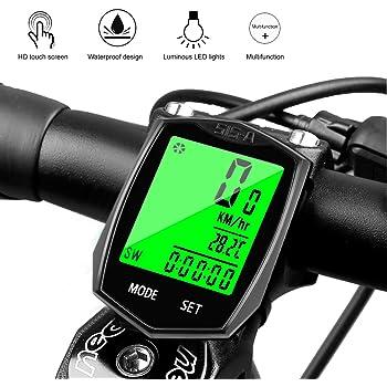 Cuentakilómetros Bicicleta Cyfie Velocímetro inalámbrico para Bicicleta Ciclocomputador Bicicleta Impermeable con Pantalla LCD con retroiluminación: Amazon.es: Deportes y aire libre