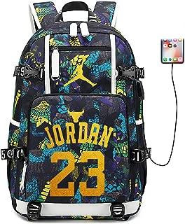 FANwenfeng Basketball Player Star Jordan Multifunction Backpack Travel Student Backpack Fans Bookbag for Men Women