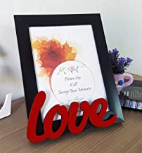 Art Street Art Street Love Customize Table Photo Frame Red and Black for Valentine Day (Photo Size 6X8), Multicolor