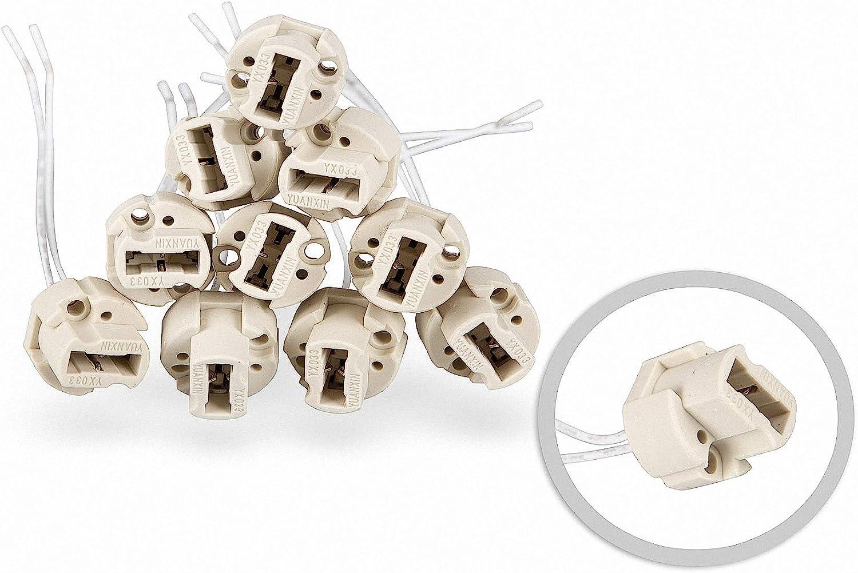 10 piezas HAL-G9 - halógeno G9 VDE alta tensión 190-230V cerámica