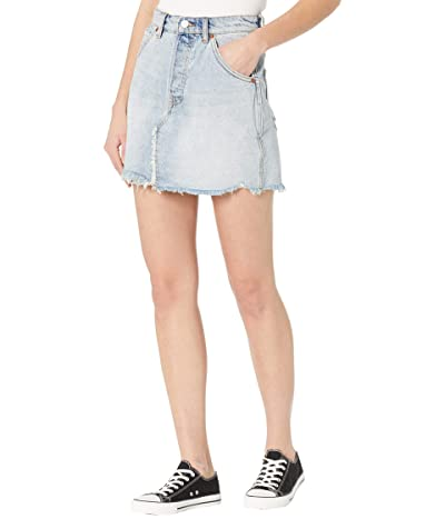 Free People Brea Cutoffs Skirt (Mile High Blue) Women