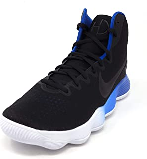 4411fe25d4bf Nike Men s React Hyperdunk 2017 Black Metallic Silver Blue Jay White Nylon  Basketball
