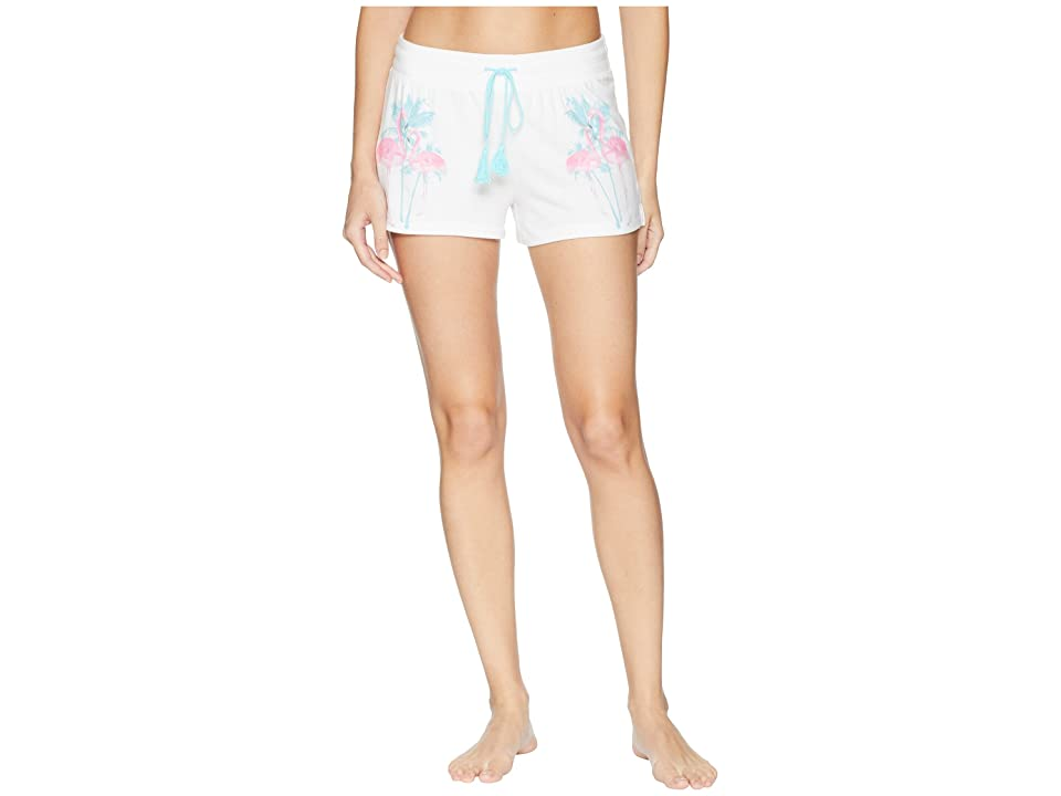 P.J. Salvage Tropicana Stripped Shorts (White) Women