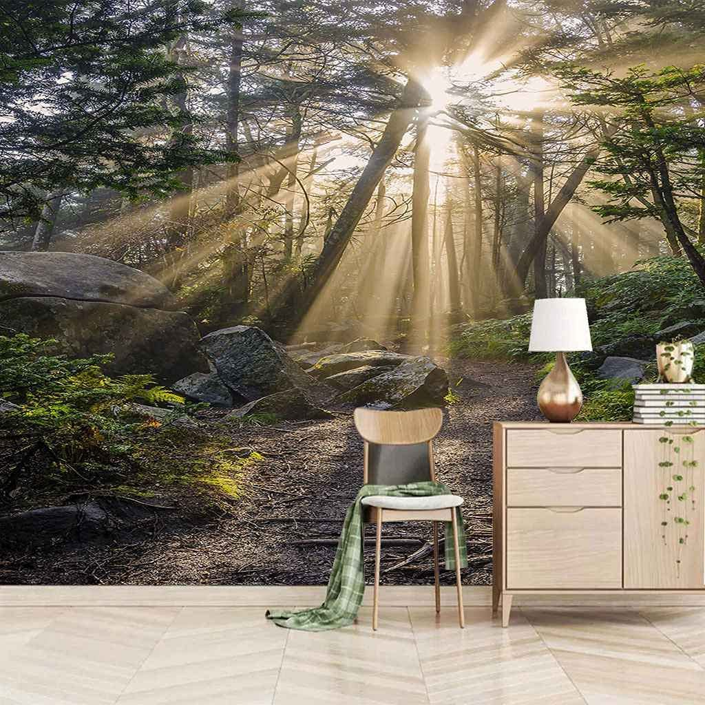 HWCUHL 3D Wall Stickers Mural Sunny Wallpaper Mu Landscape Max 56% OFF Super sale period limited Trees