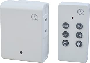 Woods 59781WD Indoor Wireless Remote Control Timer with Countdown, Plug-In, 1 Polarized Outlet