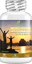 Grow Power Pills - Maximum Natural Growth Height Formula for Children and Teens-Height Growth Supplement - How to Grow Taller   60 Veggie Capsules