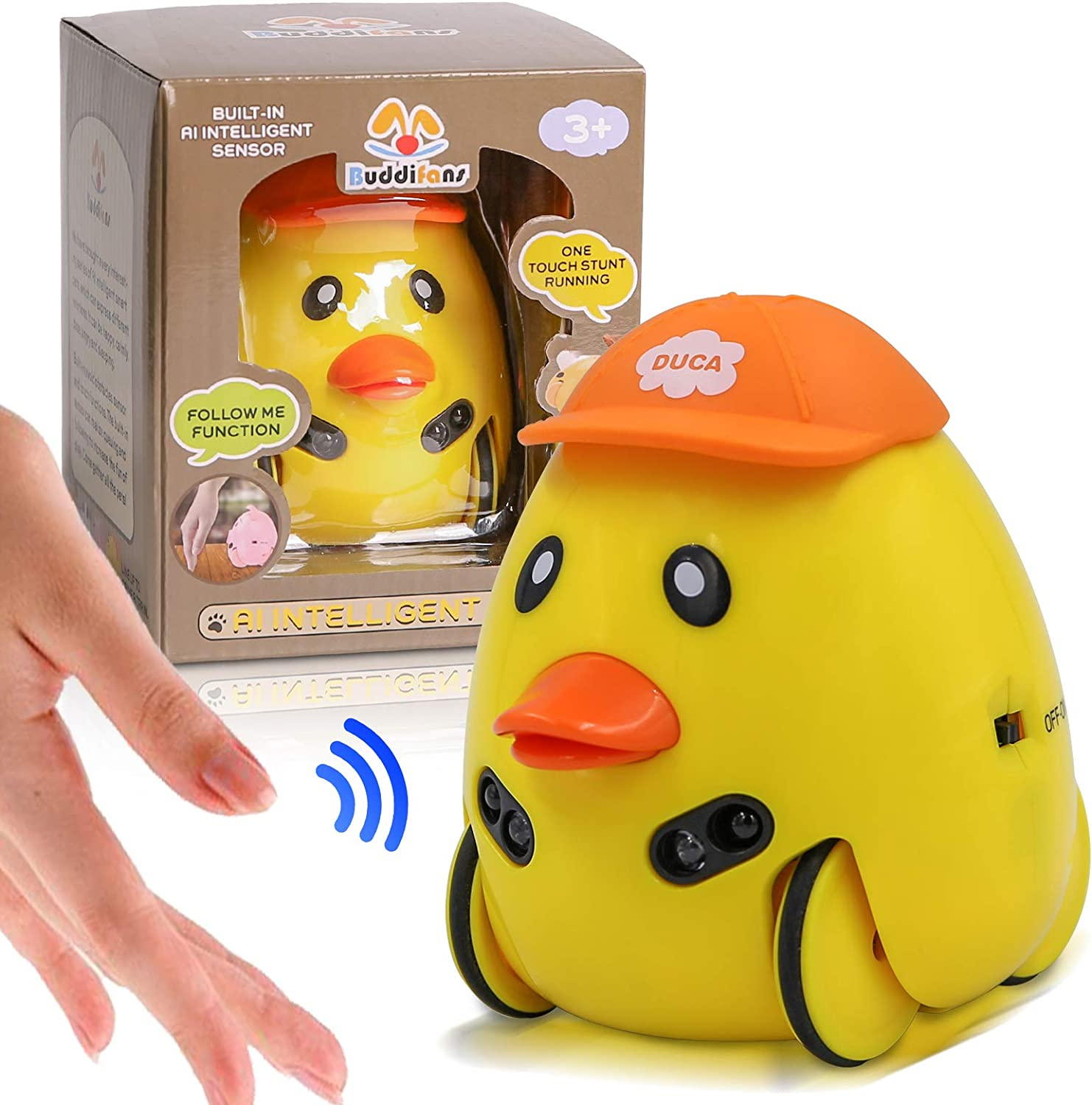 DoDoMagxanadu Baby Music Toy, Toddler Dancing Pet Music and Sound Toys, Aiintelligent Sensor Preschool Creative Infant Toys Baby for 1 2 3 Year Old Boys & Girls (Duck)