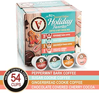 Holiday Favorites for K-Cup Keurig 2.0 Brewers, 54 Count Victor Allen's Coffee Single Serve Coffee Pods