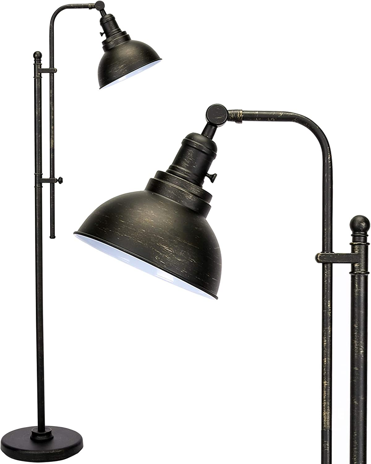CO-Z Industrial Floor Online limited product Nippon regular agency Lamp Adjustable 65 Inches Rustic Ta