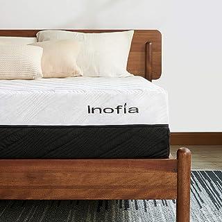Queen Mattress, Inofia Memory Foam Mattress 10 Inch Ergonomic Divided Zoned Bed 2 in 1 Flippable Firmness Mattress in a Bo...