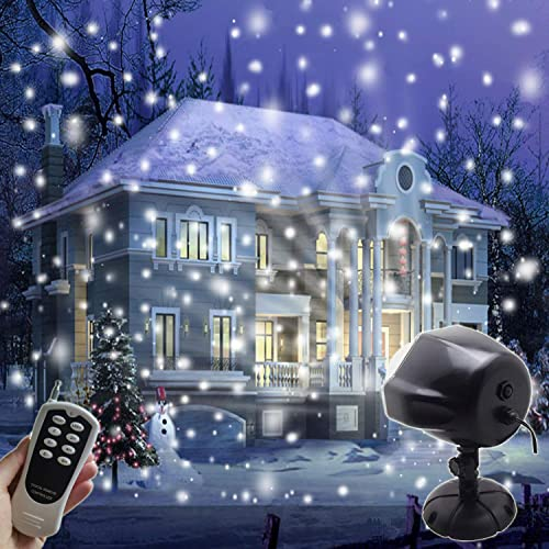 AIDERLY Indoor Outdoor LED Christmas Lights Snow Projector Waterproof  Motion Rotating Snowfall Light Spotlight Projection for - Christmas Projection Lights: Amazon.com
