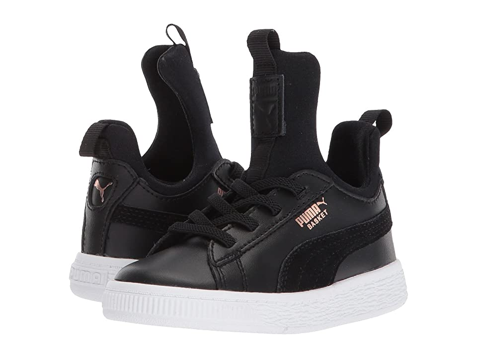 Puma Kids Basket Fierce AC (Toddler) (Puma Black/Rose Gold/Puma White) Kids Shoes