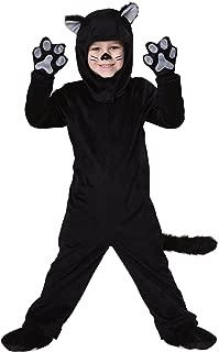 kids black dog costume