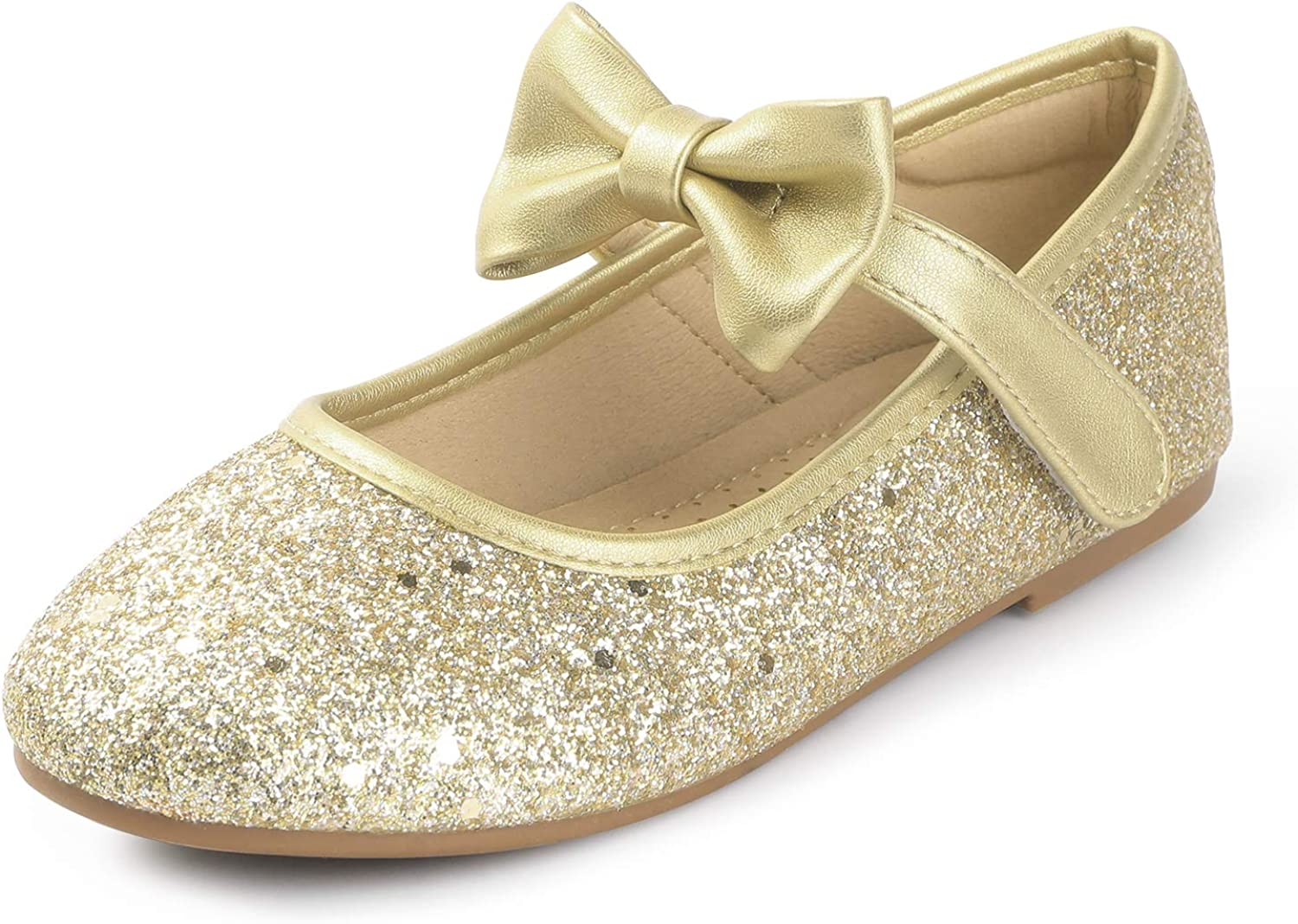 Heel The World Girls Flat Mary Jane Dress Shoes Ballerina Party Flats with Bow