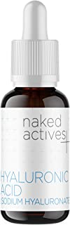 Naked Hyaluronic Acid. Vegan Sodium Hyaluronate Serum for Anti Aging and Skin Damage Repair. (1 Fl Oz)