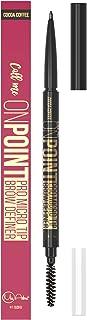 Best MICRO TIP Brow Definer Pencil - Waterproof & Smudgeproof ALL DAY WEAR - Cruelty FREE Ultra Fine EXTRA Precision - Retractable Eyebrow Pencil - No Sharpener Needed - Brown (Dark Brown)