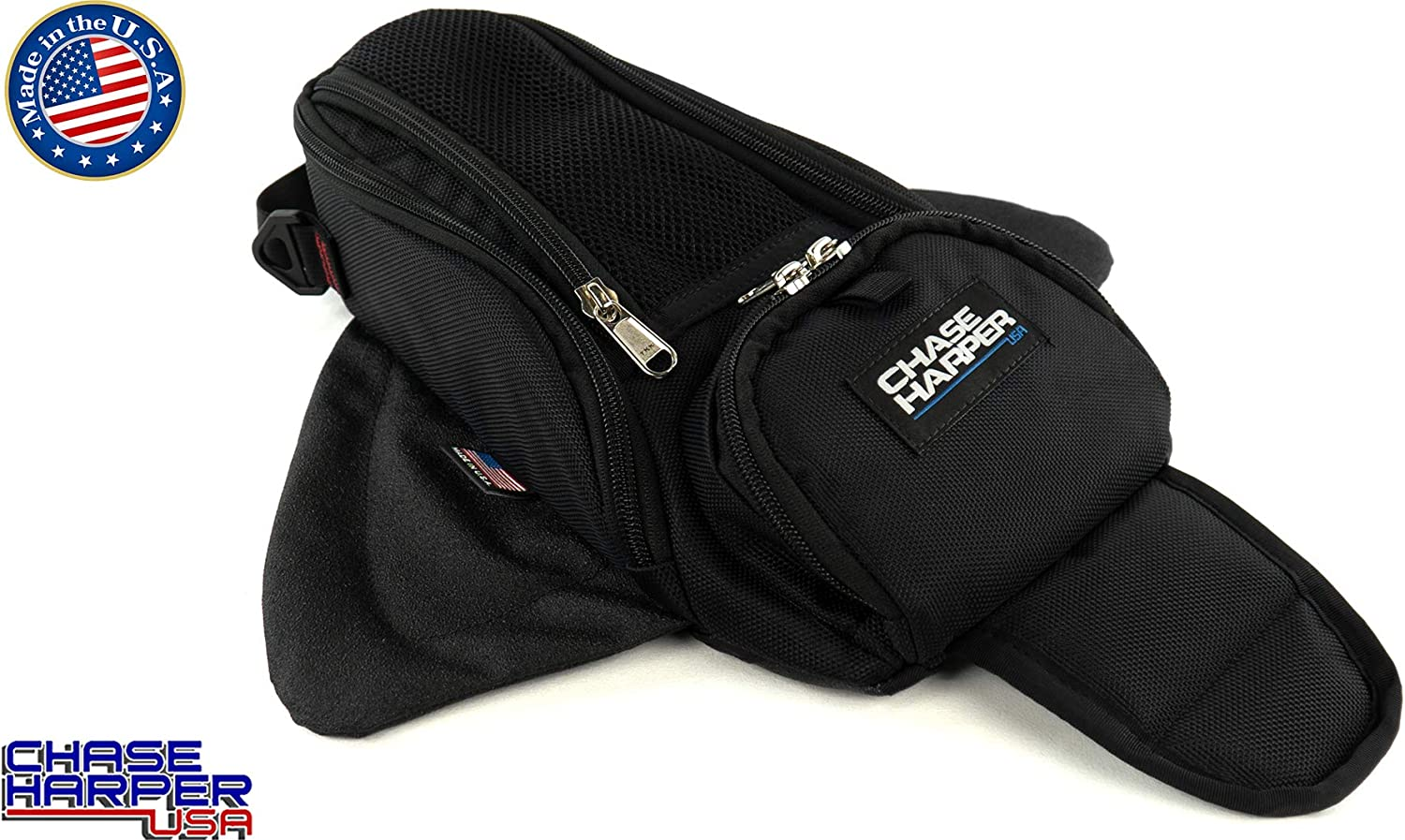 Chase Harper USA 1602M Black Manta X2 Magnetic Tank Bag - Water-Resistant, Tear-Resistant, Industrial Grade Ballistic Nylon with Anti-Scratch Rubberized Polymer Bottom, Super Strong Neodymium Magnets: Automotive
