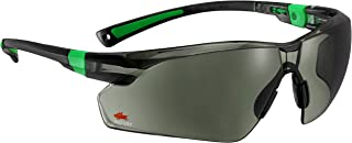 NoCry Work and Sports Safety Sunglasses with Green Tinted Scratch Resistant Wrap-Around..