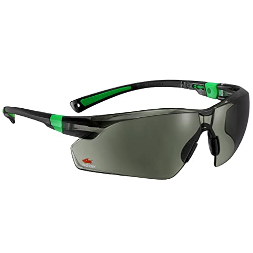 0cf1ceabdfbf0 NoCry Work and Sports Safety Sunglasses with Green Tinted Scratch Resistant  Wrap-Around Lenses and
