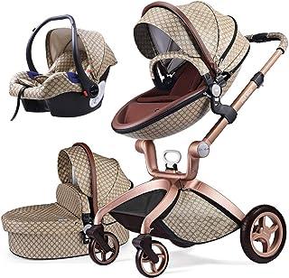comprar comparacion Cochecito de Bebe Hot Mom Cochecito y Sillas de paseo 3 en 1 sistema de viaje con silla y el capazo Asiento de coche, 2020...