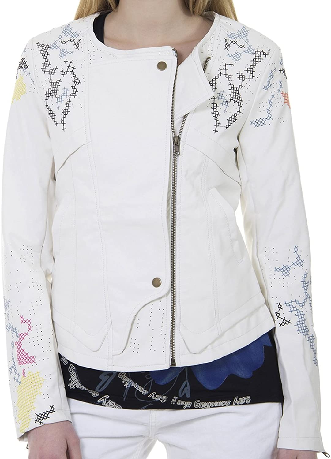 Desigual Womens' Pleather Jacket London, Sizes XSL