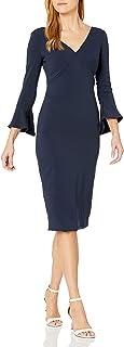 ML Monique Lhuillier Women's Bell Sleeve Dress