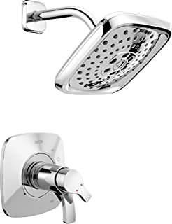 Delta Faucet Tesla 17 Series Dual-Function Shower Trim Kit with Three-Spray Touch-Clean H2Okinetic Shower Head, Chrome T17...