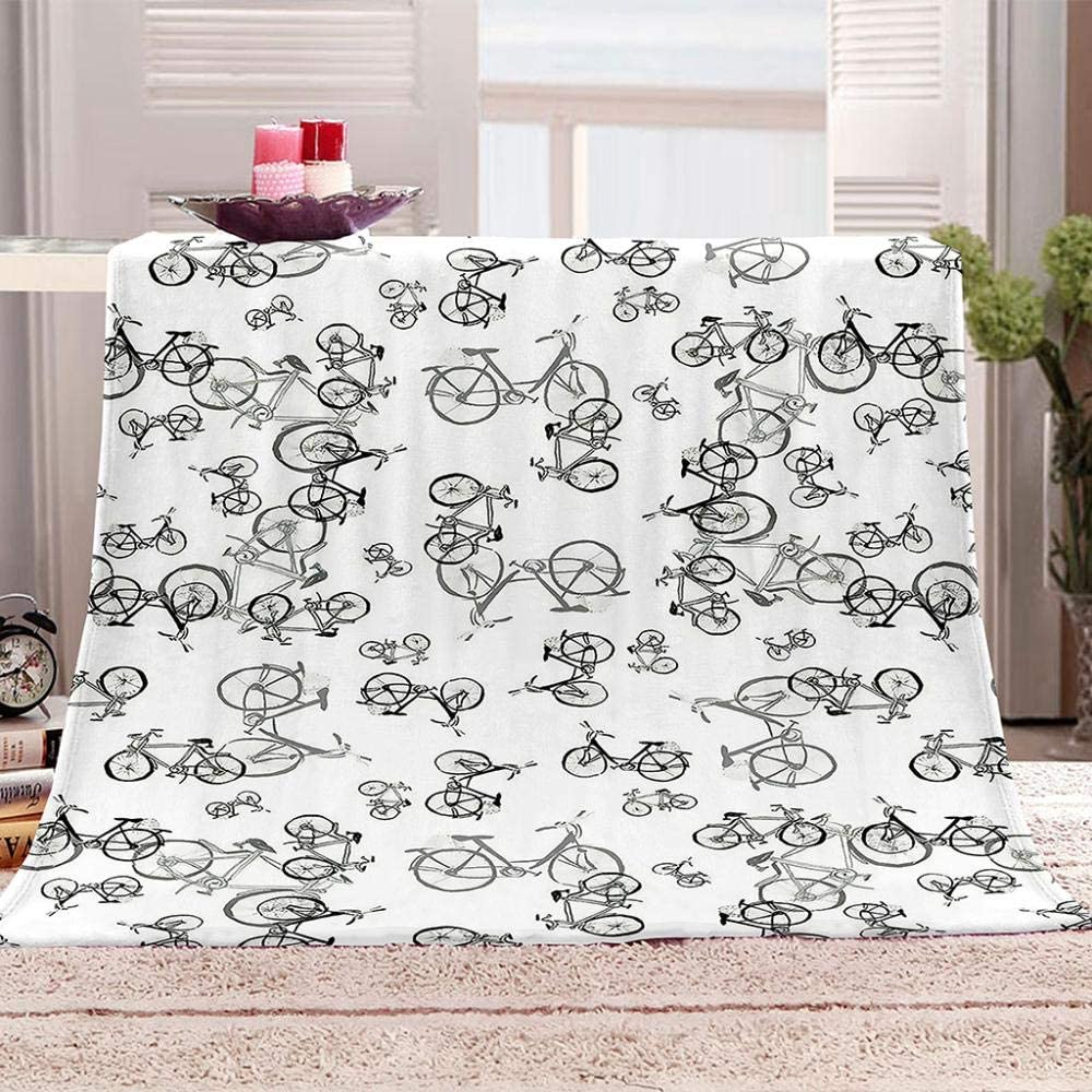 JYSZSD Baby Blanket All items free shipping BlackBicycle Super Soft Printed OFFicial site New