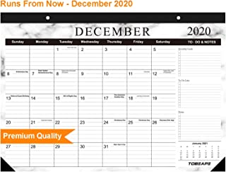 Tobeape 2020 Desk Calendar, Large Monthly Pages 17 x 12 inches Wall Calendar Daily Planner, Hanging 2-Year Runs from Now Through December 2020