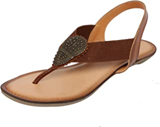 Catwalk Tan Leather Sandals for Women's