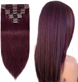 plum human hair extensions