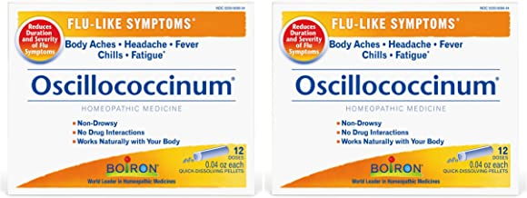 Oscillococcinum (Pack of 2) Prevents & Reduces Flu-Like Symptoms Naturally, 12 Doses Each