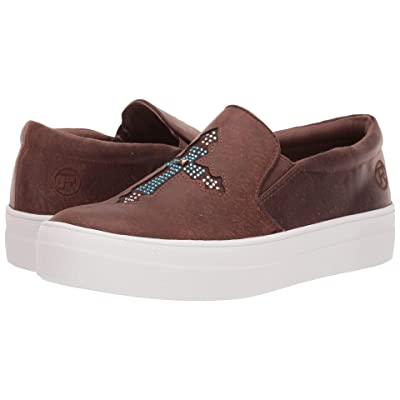 Roper Darcy (Brown Faux Leather/Crystal Cross) Women