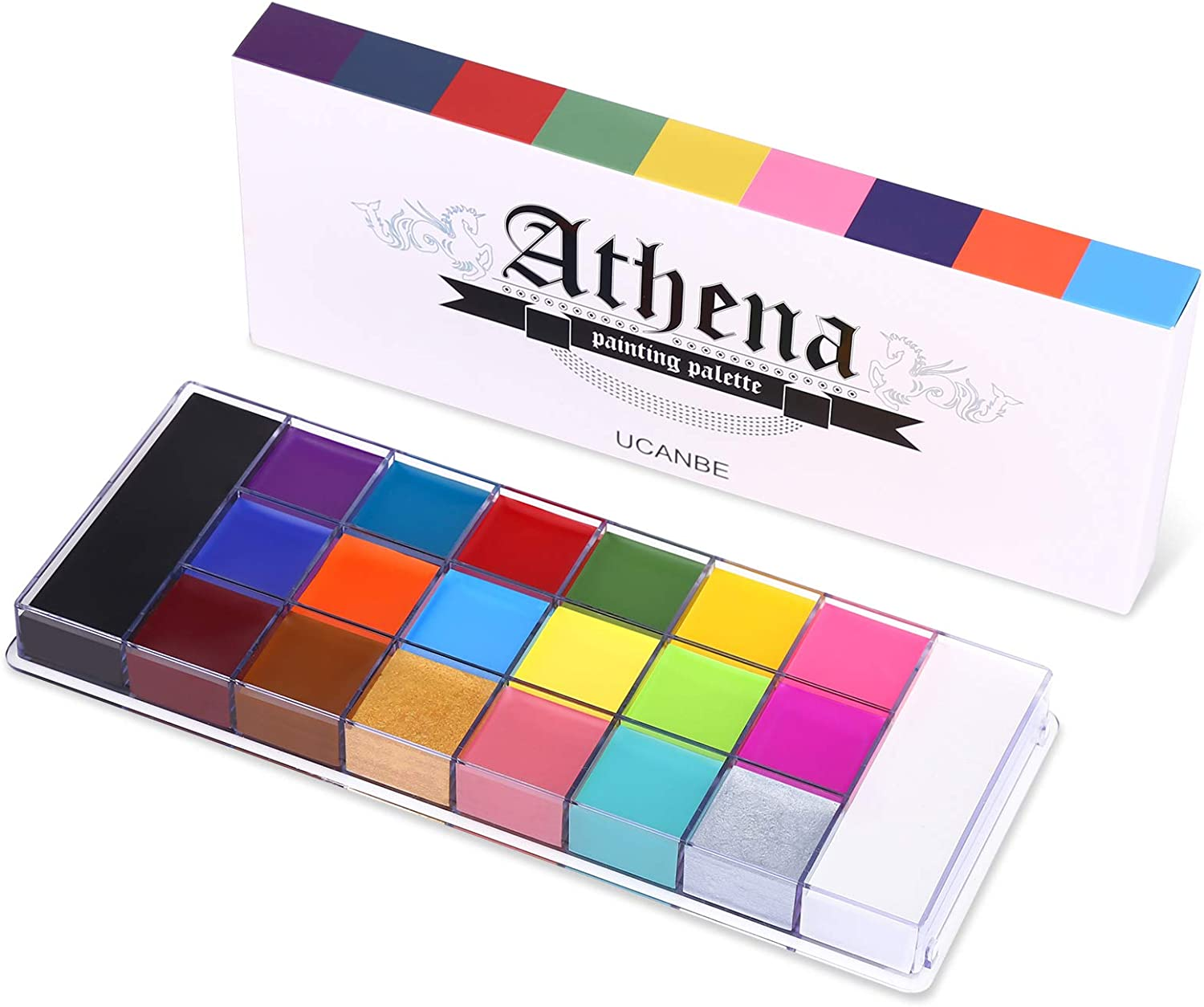 UCANBE 20 Color Athena Ranking TOP11 Face Body Paint Oil Pan - W Large Black Atlanta Mall