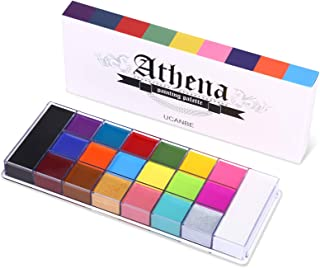 UCANBE 20 Color Athena Face Body Paint Oil - Large Pan Black & White, Professional Non Toxic SFX Makeup Palette, Hypoaller...