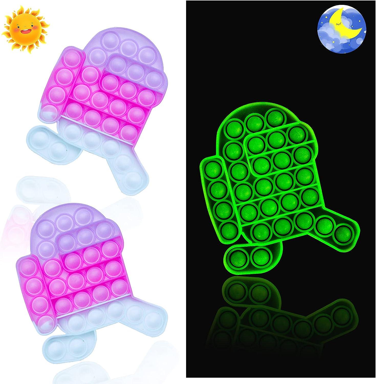 MILESTAR Pop Bubble Fidget Toys Changing Sale item Luminous Colour Po Translated with