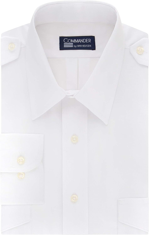 Van Heusen Men's Pilot Dress Shirt Long Sleeve Commander
