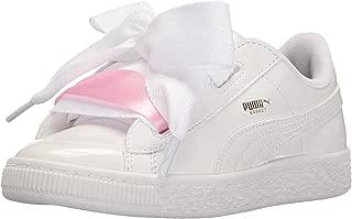 Unisex-Kids' Basket Heart Patent Sneaker