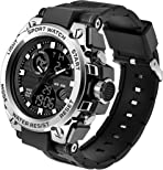 Men Military Tactical Watches Digital Sports Outdoor Waterproof Mens Boys Army Watch Stopwatch LED Survival Tough Electronic Alarm Clock Black Gold Wrist Watch