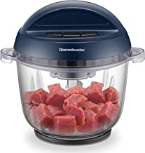 Homeleader Food Chopper, 10 Cup Electric Food Processor, 3L Large Size BPA-Free Glass Bowl Blender Grinder with 3 Speeds for Meat, Vegetables, Fruits and Nuts, 400W