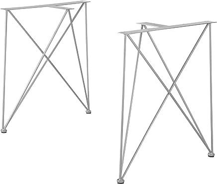 HOLZBRINK 1x Pied de Table en Profil/és dAcier 80x40 mm Blanc Signalisation Cadre 80x72 cm HLT-01-B-FF-9016