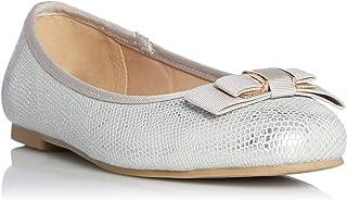 Dune London Women's Hayleigh Di Bow Trim Ballerina Shoes