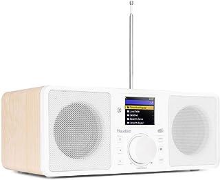 Audizio Rome - Internet Radio & DAB Radio met Bluetooth en Wifi, 50W stereo, Afstandsbediening, Wekkerradio - Wit